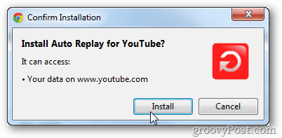 install auto replay youtube
