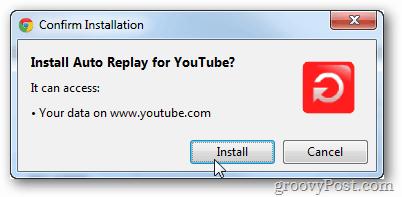 install auto replay youtube