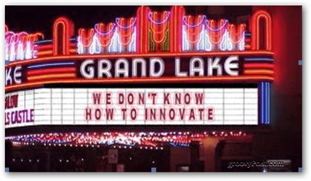 we dont know how to innovate
