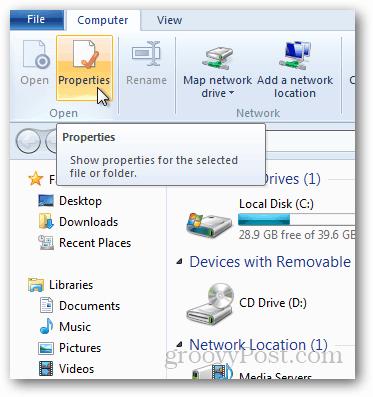 windows 8 computer properties
