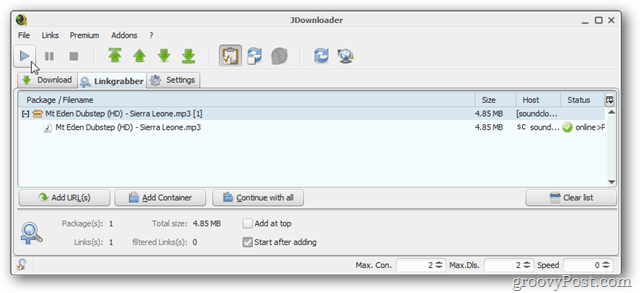 jdownloader 2 download mp3