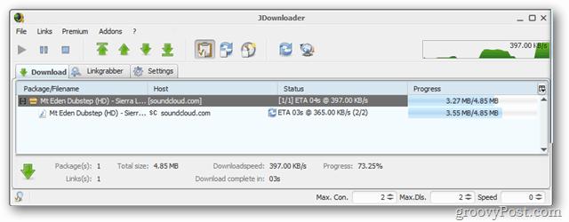 jdownloader download tab