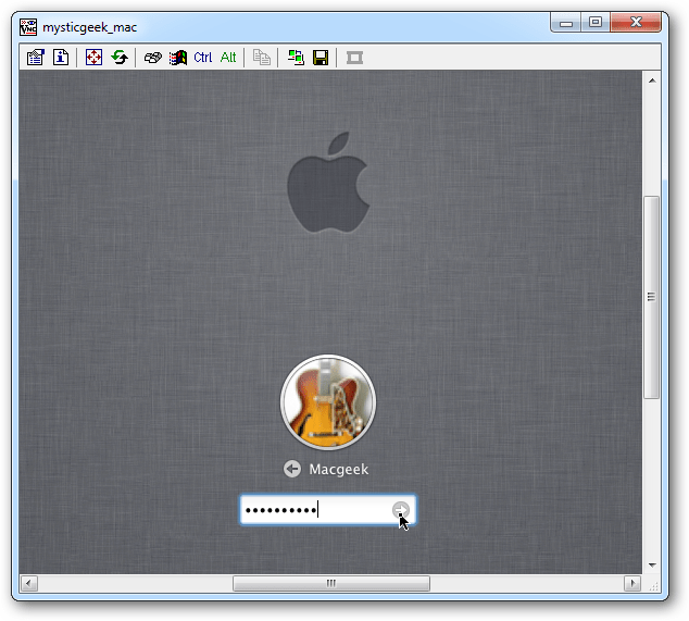 log in Mac
