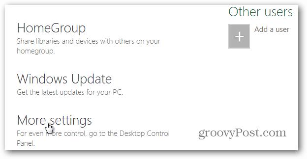 more settings