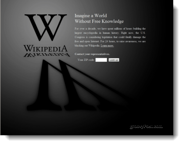 Wikipedia in the Dark