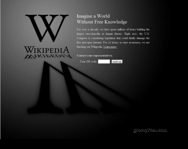 Wikipedia in the Dark
