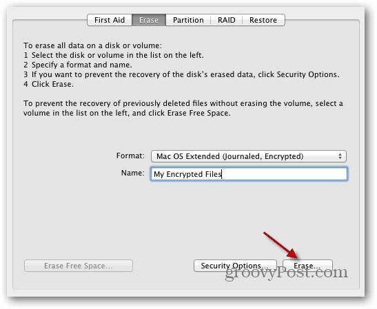 name drive OS X