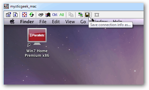 save icon Tight VNC