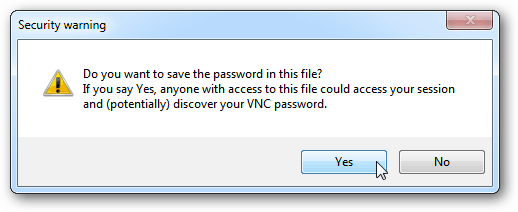 save pw TightVNC