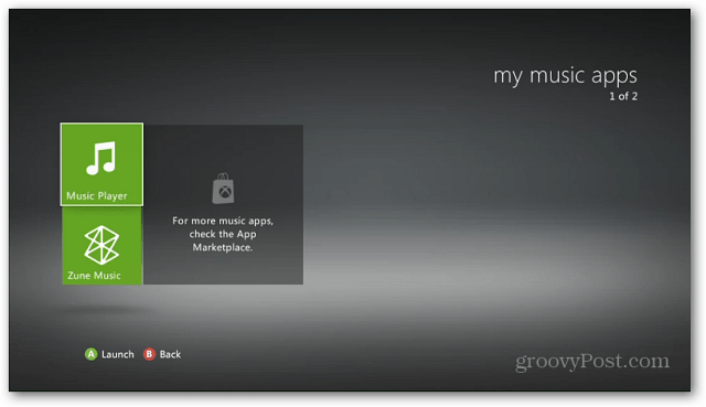 Xbox Music Player