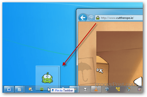 Pin Cut the Rope Taskbar