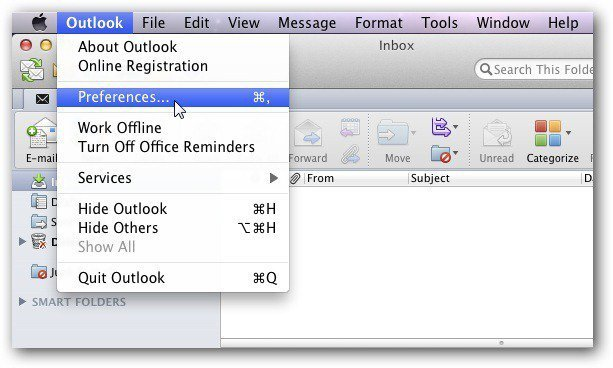 Outlook Mac Preferences