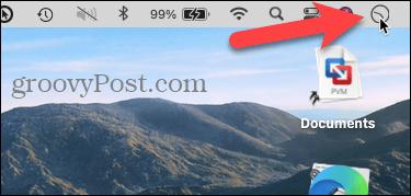 Analog clock on the Mac menu bar