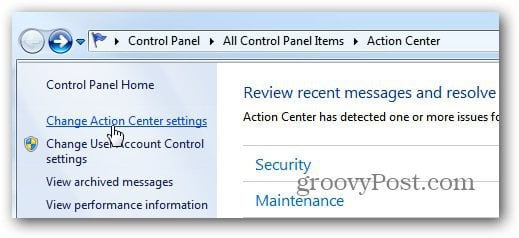 Windows 7 - Disable the Firewall Notification