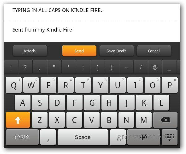 Caps Lock Kindle Fire