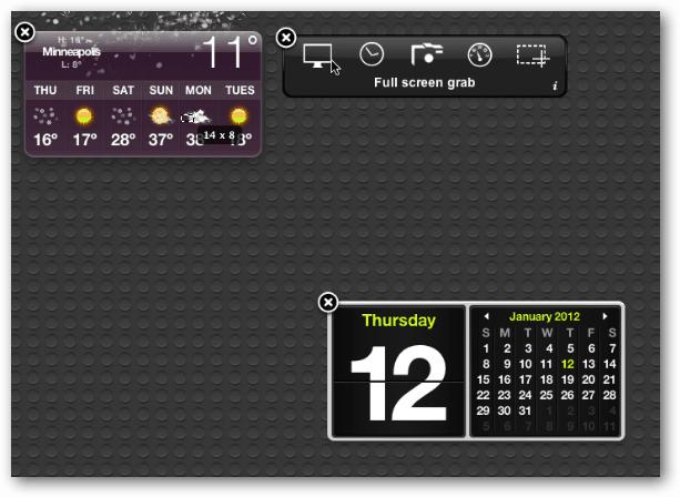 Dashboard Calendar OS X