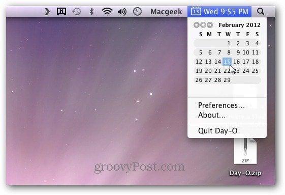 Day-O Calendar