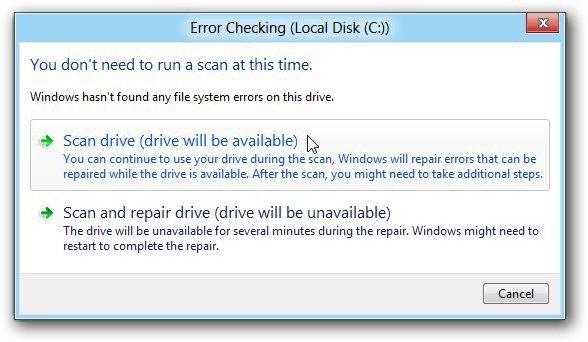 Disk Check Errors