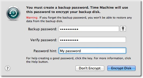 Enter Encryption Password