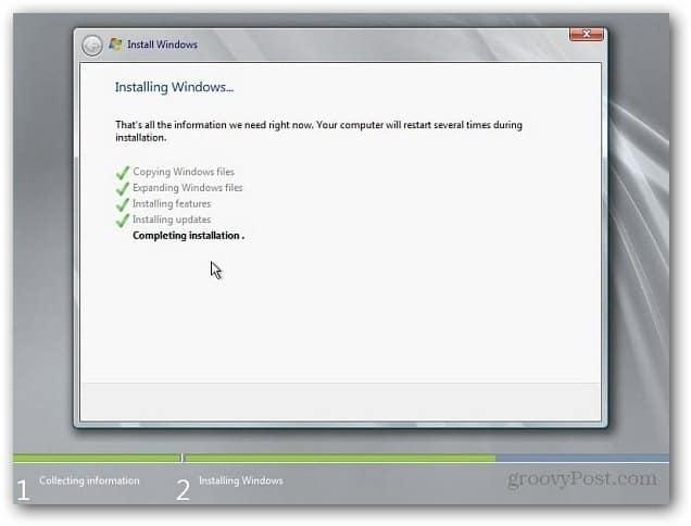 First Reboot Install