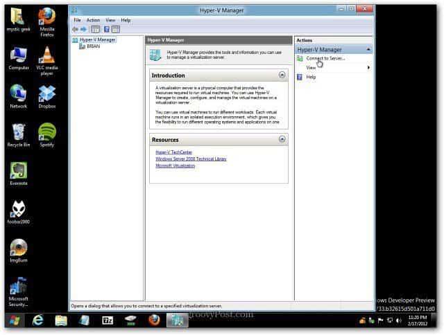HyperV Manager Desktop
