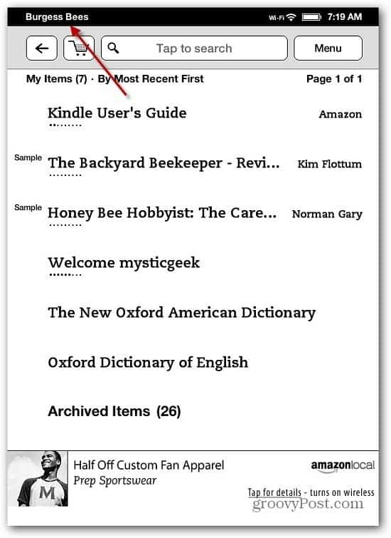 Kindle Touch Renamed