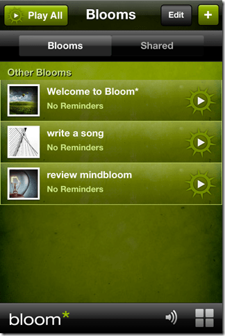 schedule some inspiration throughout your day with the mindbloom smartphone app