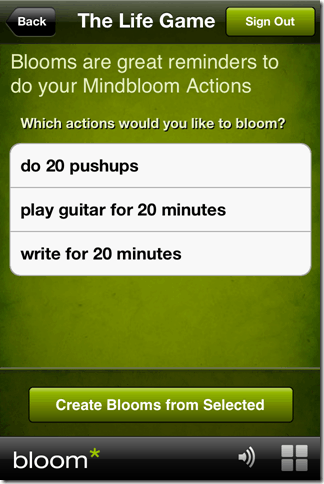 bloom* is a free iphone app from mindbloom