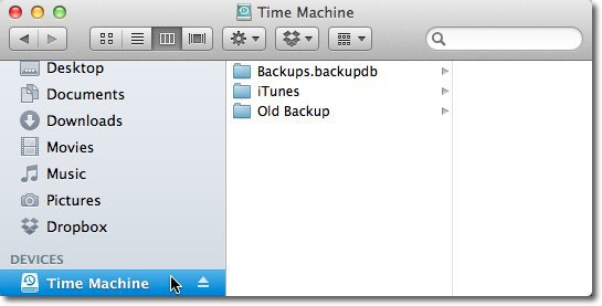 Rename Drive Time Machine