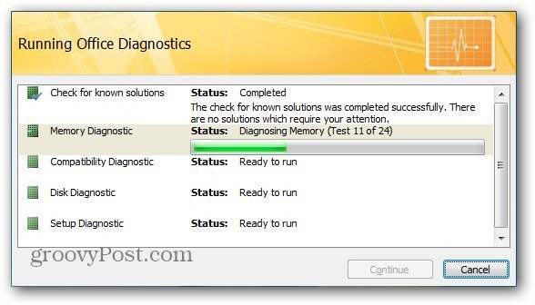 Running Diagnostics
