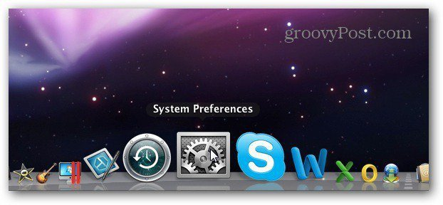System Prefs Dock