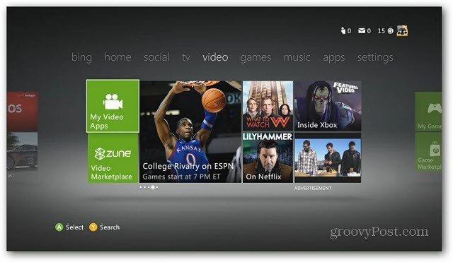 Xbox Main Menu