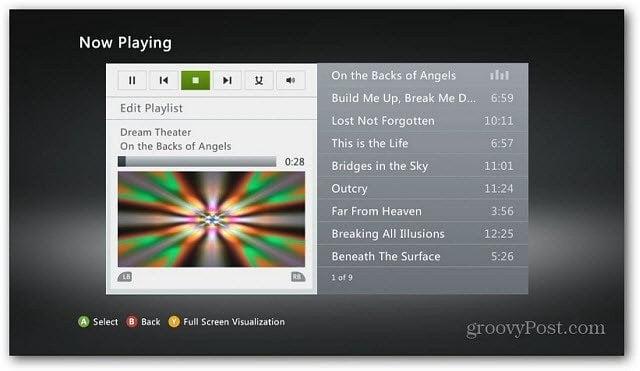 Xbox Playing Music