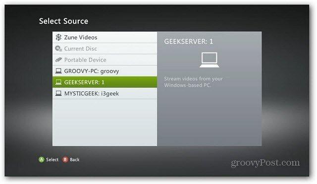 Xbox Select Server