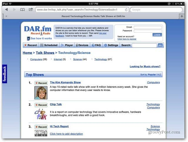 DAR fm: Stream and Record Streaming Radio
