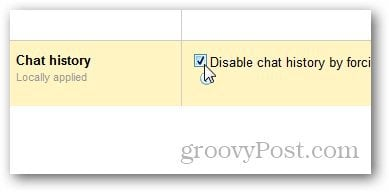 Google Apps disable chat