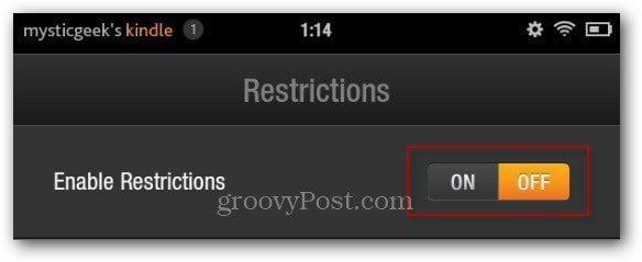 enable restrictions