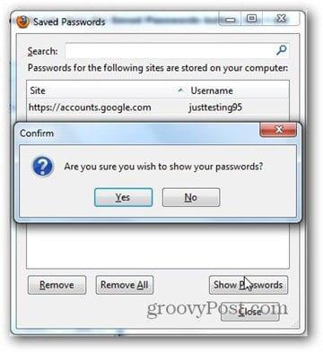 firefox show saved passwords