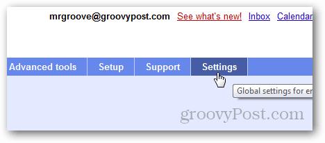 google apps dashboard settings