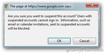 google apps click suspend user confirmation
