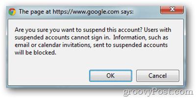 google apps click suspend user confirmation