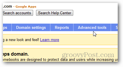Google apps advanced tools
