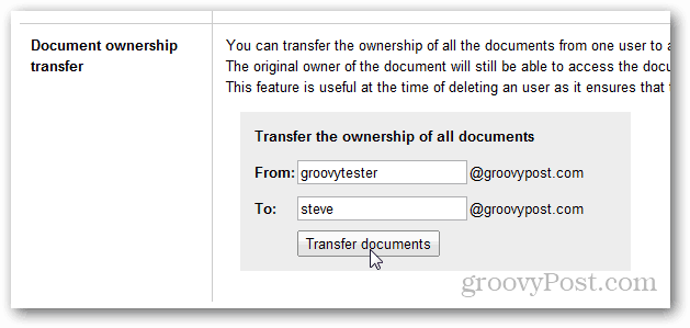 google apps transfer docs ownership