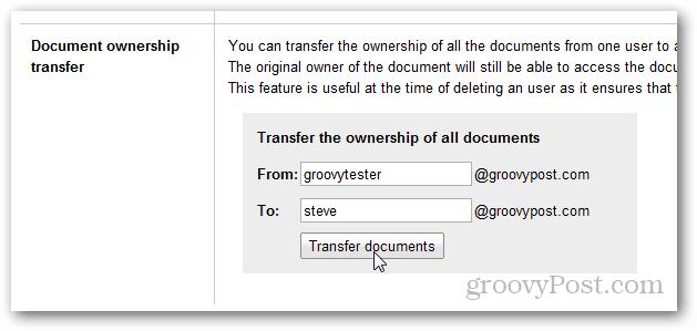 google apps transfer docs ownership