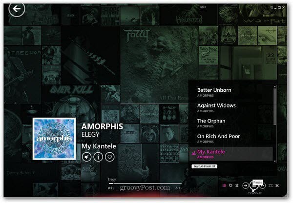music on Zune Player