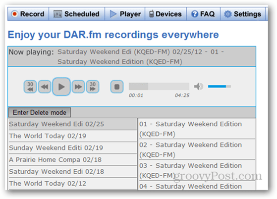 Enjoy your DAR.fm recordings everywhere