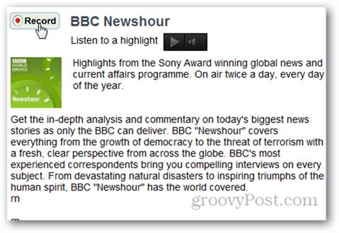 DAR.fm Record BBC Newshour