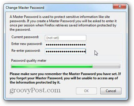 type firefox master password