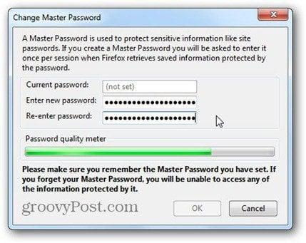 type firefox master password