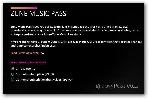 zune music pass